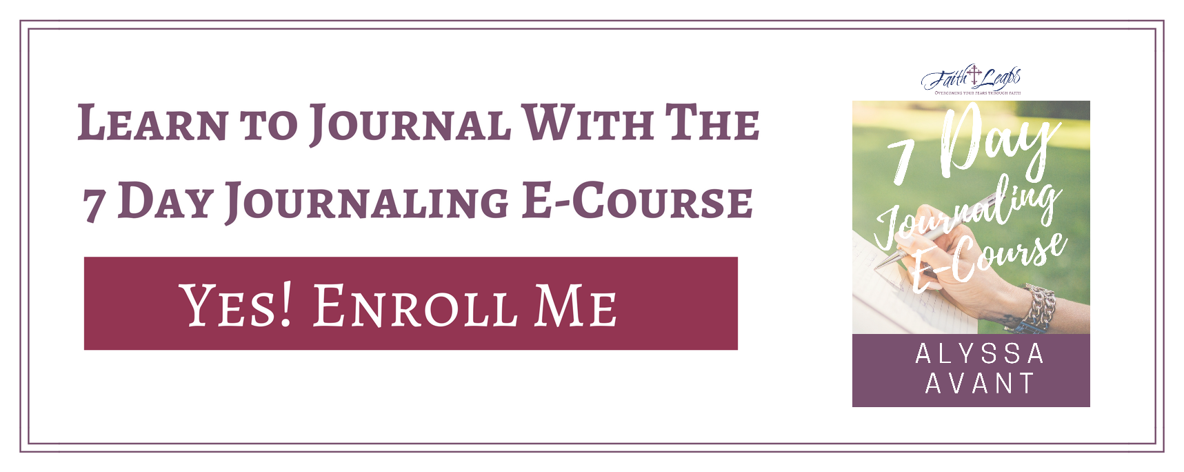 7 Day Journaling E-Course