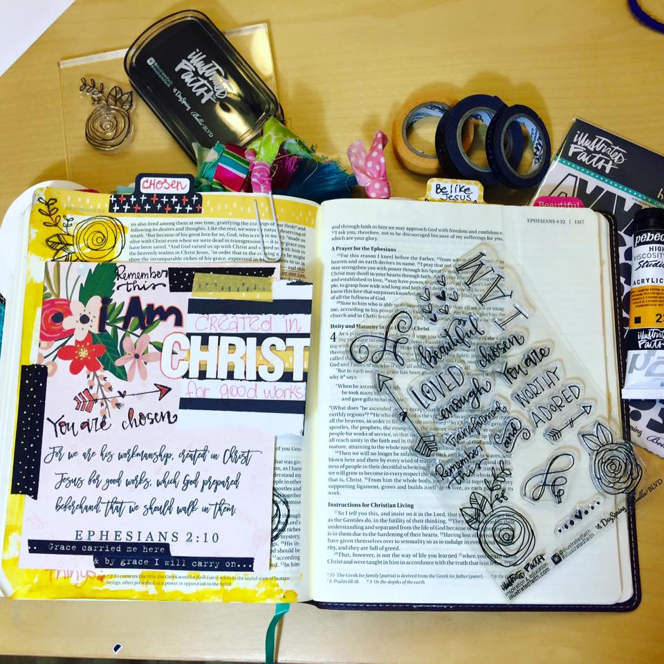 Bible journaling today.