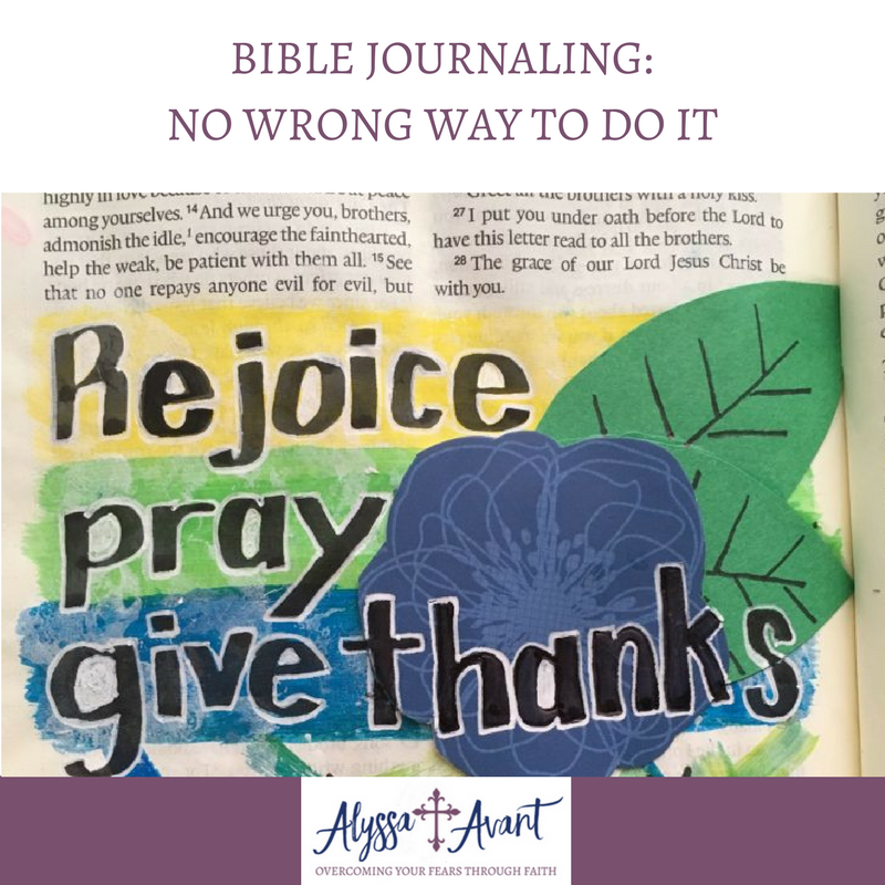 Bible Journaling: There is No Wrong Way to Do It
