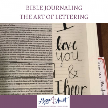 Bible Journaling–The Art of Lettering
