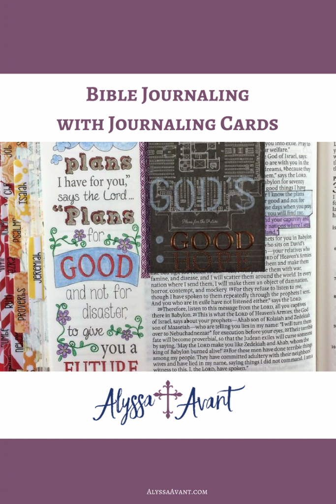 Bible Journaling with Journaling Cards