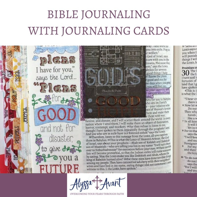 Bible Journaling with Journaling Cards square