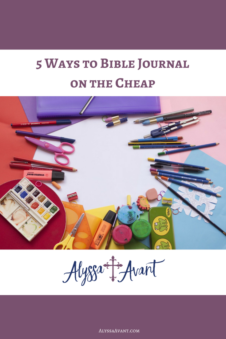 Bible journal on the cheap