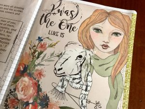 The One: Bible Journaling page by Grace in Color
