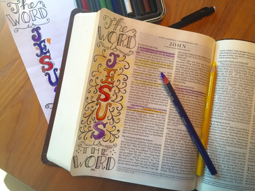 Jesus is the Word Bible journaling page by JoDitt