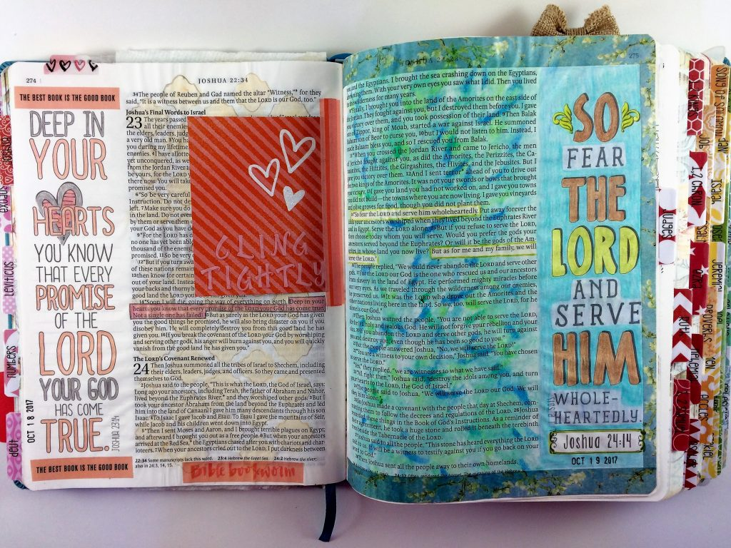 Bible Journaling Using Journaling Cards: Space