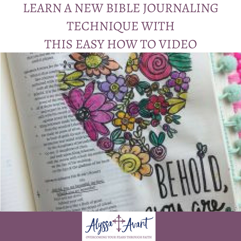 Learn New Bible Journaling Technique with this Easy How to Video