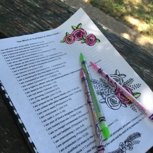 Bible journaling outside