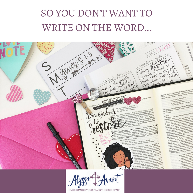 So You Don't Want to Write on the Word…