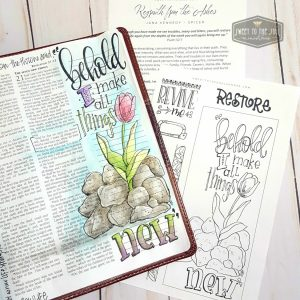 Soul inspired Bible journaling