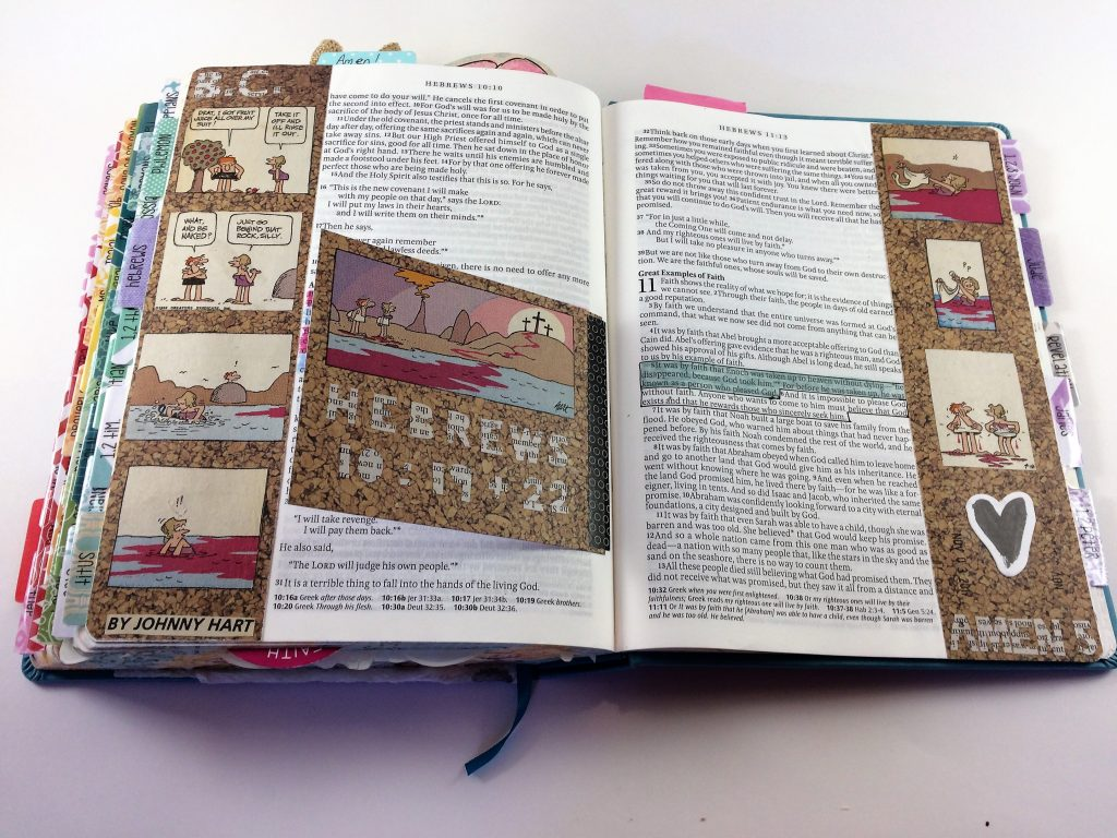 Bible Journaling Using Journaling Cards: Art